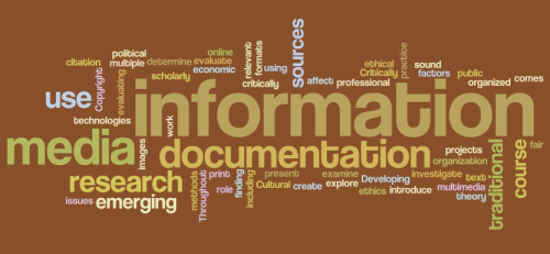 Course word cloud